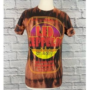 Vintage Band Tee Shirt Custom Bleach Dye